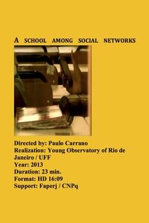 Small uma escola entre redes sociais cartaz ingles